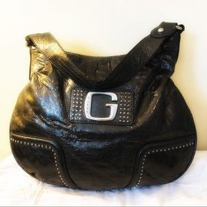 Guess Studded Black Faux Leather Purse